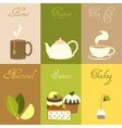 Tea mini posters set vector image vector image