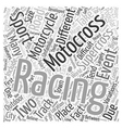 The Difference between Supercross Racing and vector image vector image
