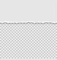 torn a half sheet of grey paper vector image