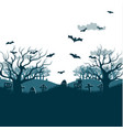 traditional holiday halloween night party poster vector image vector image