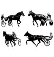 trotters race sketch vector image vector image