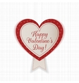 Valentines Day Heart Emblem with Text and Ribbon vector image vector image