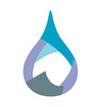 water droplet logo design sign icon template vector image vector image
