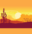 wild west american desert texas prairie vector image vector image