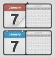 Calendars vector image