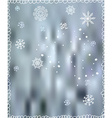 Winter background with snowflakes - for Christmas vector image