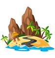 a beautiful island landscape vector image