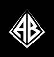 ab logo letters monogram with prisma shape design vector image vector image