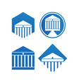 attorney at law logo icon template vector image vector image