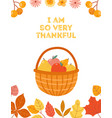 autumn apple harvest pear and apples in basket vector image vector image