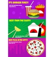 Banners for the fast-food vector image vector image