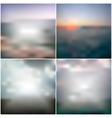blurred backgrounds with the sea sunset vector image vector image