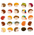 Boys with different emotions vector image