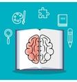 brain student school set elements design vector image vector image