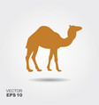 camel icon silhouette vector image