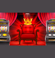 casino 3d slots machine wins the jackpot vector image vector image