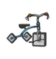 children tricycle with square wheels sketch vector image vector image
