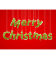 christmas greeting card merry lettering vector image vector image