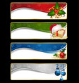 christmas website banner set vector image vector image