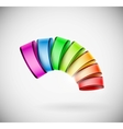 Colorful 3D icon vector image