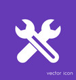 crossed wrenches icon service pictogram vector image