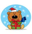 Cute Christmas Teddy vector image vector image