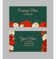 Double-sided floral business card vector image vector image