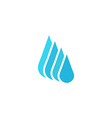 Droplet fresh water logo mockup cleaning or liquid vector image vector image