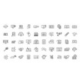 e-learning training icons set outline style vector image vector image