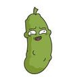 embarrass awkward dill pickle cartoon vector image vector image