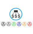 financial scheme rounded icon vector image vector image