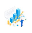 financial statement isometric concept vector image vector image