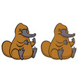 funny kindly cartoon platypus vector image vector image