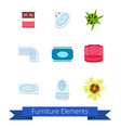 furniture elements icons vector image vector image