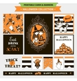 Halloween printable set vector image