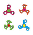 hand spinner toy flat style isolated on white vector image vector image