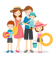 Happy Family With Summer Trip vector image vector image