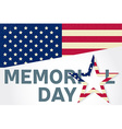 Happy Memorial Day greeting card Happy Memorial vector image vector image