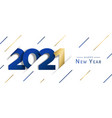 happy new year 2021 gold paper cut web banner vector image