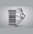 head of lion from triangles vector image vector image