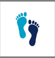 human footprint icon logo vector image