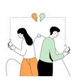 internet dating - modern flat design style vector image