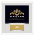 letter k logo design concept royal luxury gold vector image vector image
