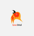 Lovebird logo colorful design