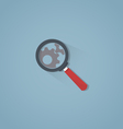 Magnifier with shadow vector image vector image