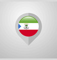 map navigation pointer with equatorial guinea vector image vector image