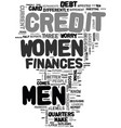 men women and their finances text background word vector image vector image