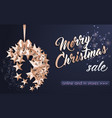 merry christmas ball made from stars vector image vector image