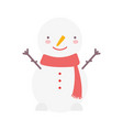 merry christmas snowman character decoration icon vector image