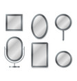 mirror set mirroring reflection surface realistic vector image vector image